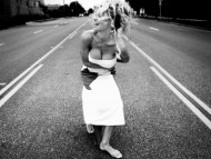 on the street / Pamela Anderson