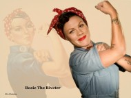 pink, rosie the riveter, rosie, riveter, raise your glass, sexy, work / Pink