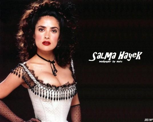 Send to Mobile Phone Salma Hayek Celebrities Female wallpaper num.71