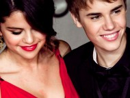 With Justin Bieber / Selena Gomez