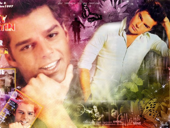 ... Send to Mobile Phone Ricky Martin Celebrities Male wallpaper num.46