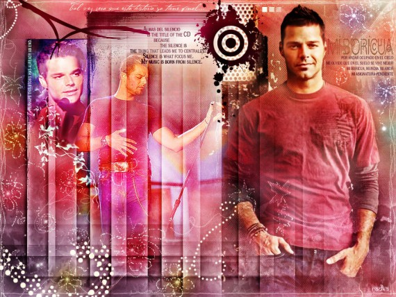 ... Send to Mobile Phone Ricky Martin Celebrities Male wallpaper num.22