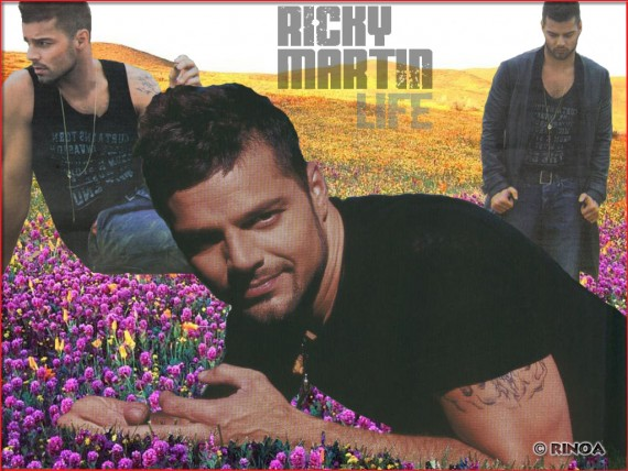 ... Send to Mobile Phone Ricky Martin Celebrities Male wallpaper num.14
