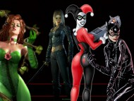 batman girls, poison ivy, harley quinn, talia al ghul, catwoman, arkham city / Batman's Women