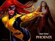 Download xmen, jean grey, phoenix, fire, sexy, famke janssen, famke, janssen / Character Jean Grey Phoenix