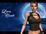 tomb raider, sexy, moon, angelina jolie / Lara Croft