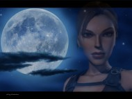 tomb raider, moon, angelina jolie / Lara Croft