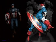 comic books, captain america, america, captain, the shield, red white and blue, first avenger / Captain America