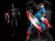 comic books, captain america, america, captain, the shield, red white and blue, first avenger / Captain America