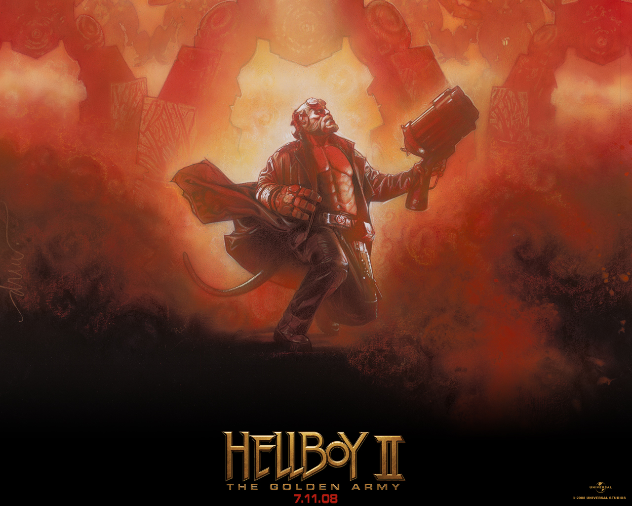 Download full size Hellboy 2 The Golden Army wallpaper / Movies / 1280x1024