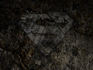 Download Superman, Logo, Rocks, Cracked / Superman