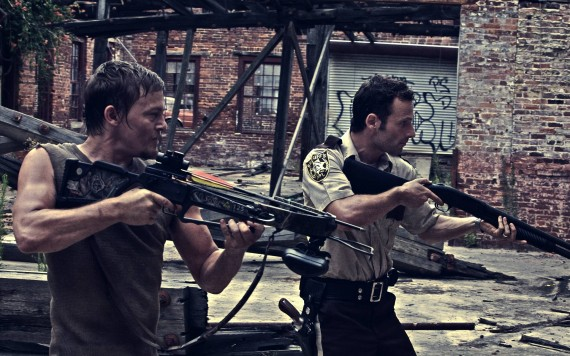 Free Send to Mobile Phone Rick & Daryl The Walking Dead wallpaper num.28