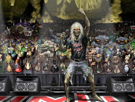Free Send to Mobile Phone live concert monsters Iron Maiden wallpaper num.14