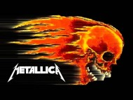 flaming skull / Metallica
