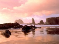 Coastal Sunset, Face Rock State Park, Bandon, Oregon / Beaches