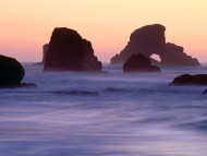 Evening Falls over Sea Stacks, Ecola State Park, Oregon / Beaches