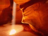 Shaft of Sunlight, Antelope Canyon, Arizona / Canyons