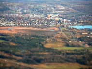 Magog city Seen From Mont-Orford, Canada / Cities