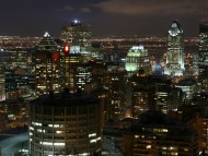 Montréal at night,Canada / Cities