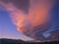 Lenticular Cloud, Sierra Nevada Range, California / Clouds