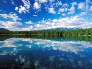 Edith Lake, Jasper National Park, Canada, Glassy, Cumulus / Lakes