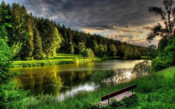 Free Send to Mobile Phone lake, trees Lakes wallpaper num.119