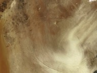 Desert Sand Storm Seen From Space, Iraq / Maps
