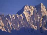 Alpenglow on Peak, Chugach Mountains, Alaska / Mountains