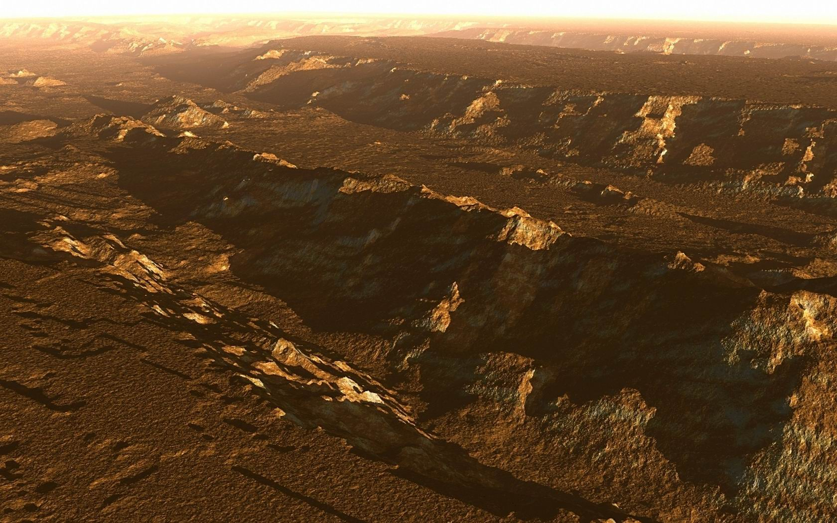 Download HQ Real Mars Picture Taken By Marineris Space Wallpaper 1680x1050