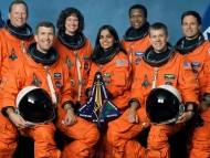 TRIBUTE: STS-107 Crew Portrait, Columbia Shuttle, January 2003 / Space