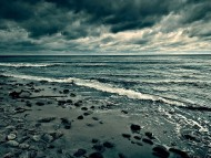 Cloudy coast / Storms