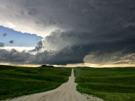 Road to sunset / Storms