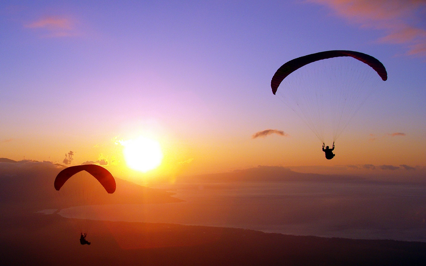 skydiving wallpaper sunset free - photo #1
