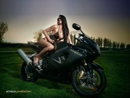 Wet Black zoomgirls / Girls & Bike