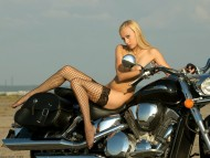 sexy blonde / Girls & Bike