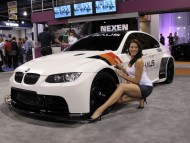 White BMV / Girls & Cars
