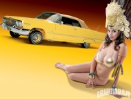 Yellow Lowrider / Girls & Cars