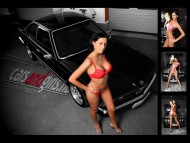 black BMW red underwear / Girls & Cars
