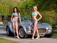 Two bikini girls / Girls & Cars