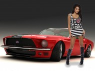 mustang / Girls & Cars