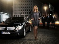 black Mercedes / Girls & Cars