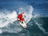 santa surfer / Funny