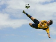 Flying kick the ball / Football