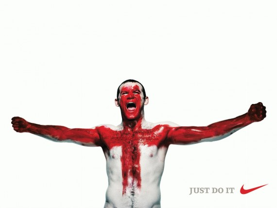 Free Send to Mobile Phone Wayne Rooney Just Do It Football wallpaper num.31
