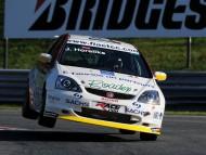 White Honda / Racing Cars
