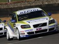white Volvo / Racing Cars