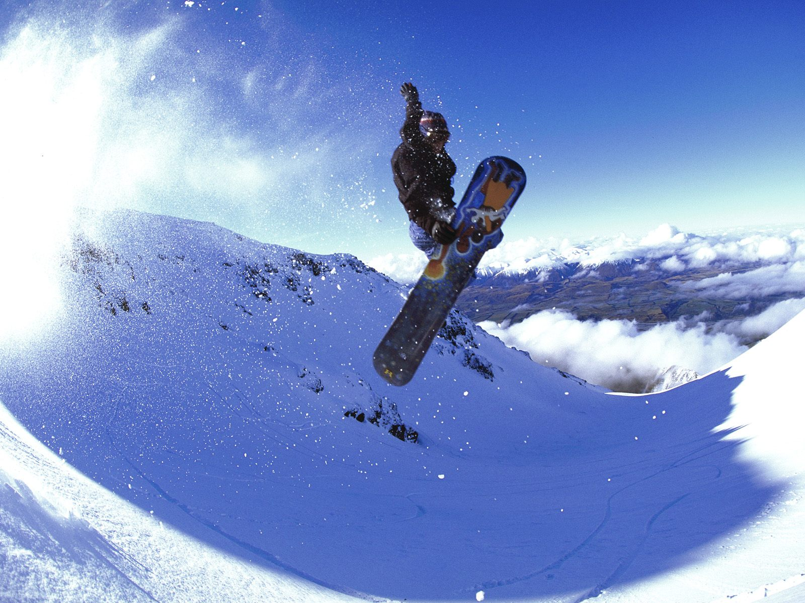 free download high quality extreme snowboarding wallpaper