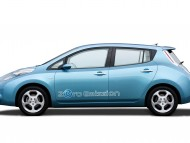 Zero Emission LEAF blue side / Nissan