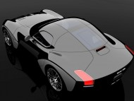 Devon GTX prototype black top view / Super cars