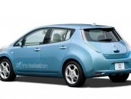 Zero Emission LEAF blue angle / Nissan